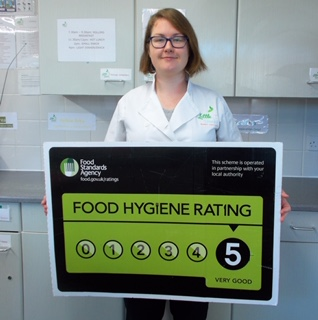 Claire - food hygiene rating